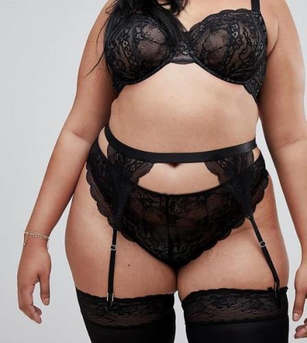 Liguero de encaje Roxy de ASOS DESIGN Curve