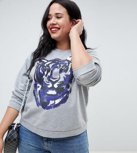 Sudadera con estampado de pantera de ASOS DESIGN